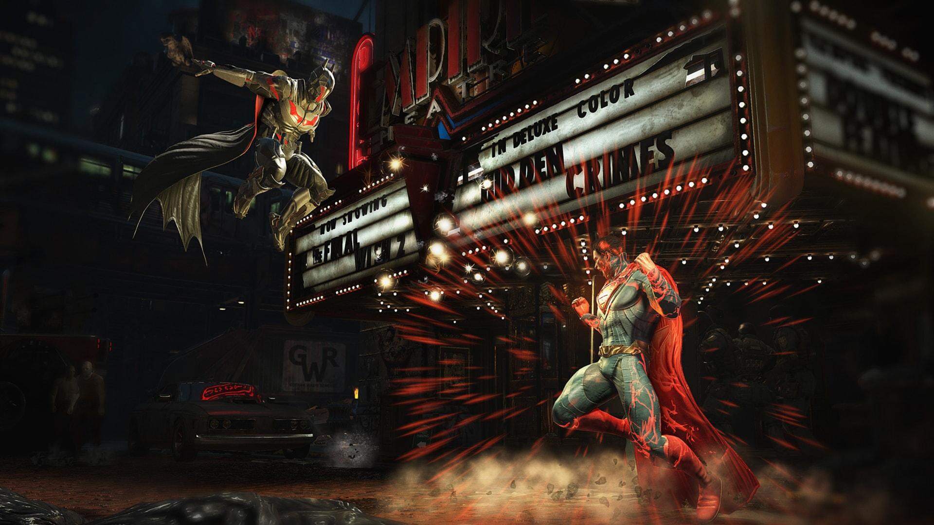 Injustice 2: Batman and Superman fighting