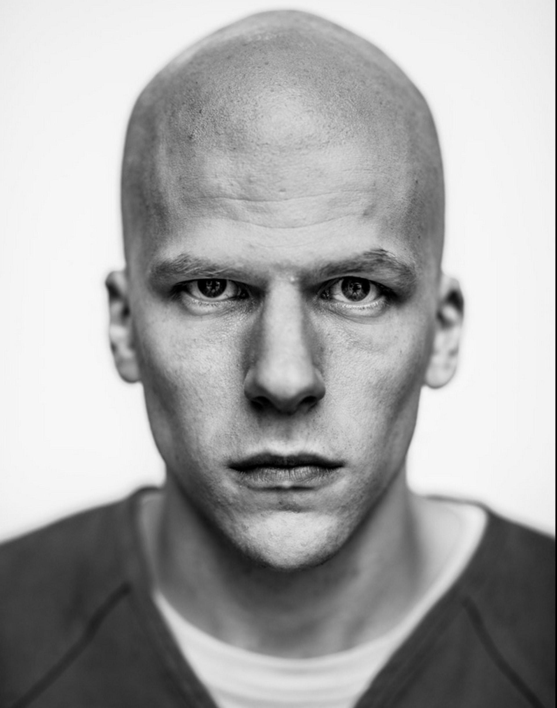 Jesse Eisenberg as bald Lex Luthor