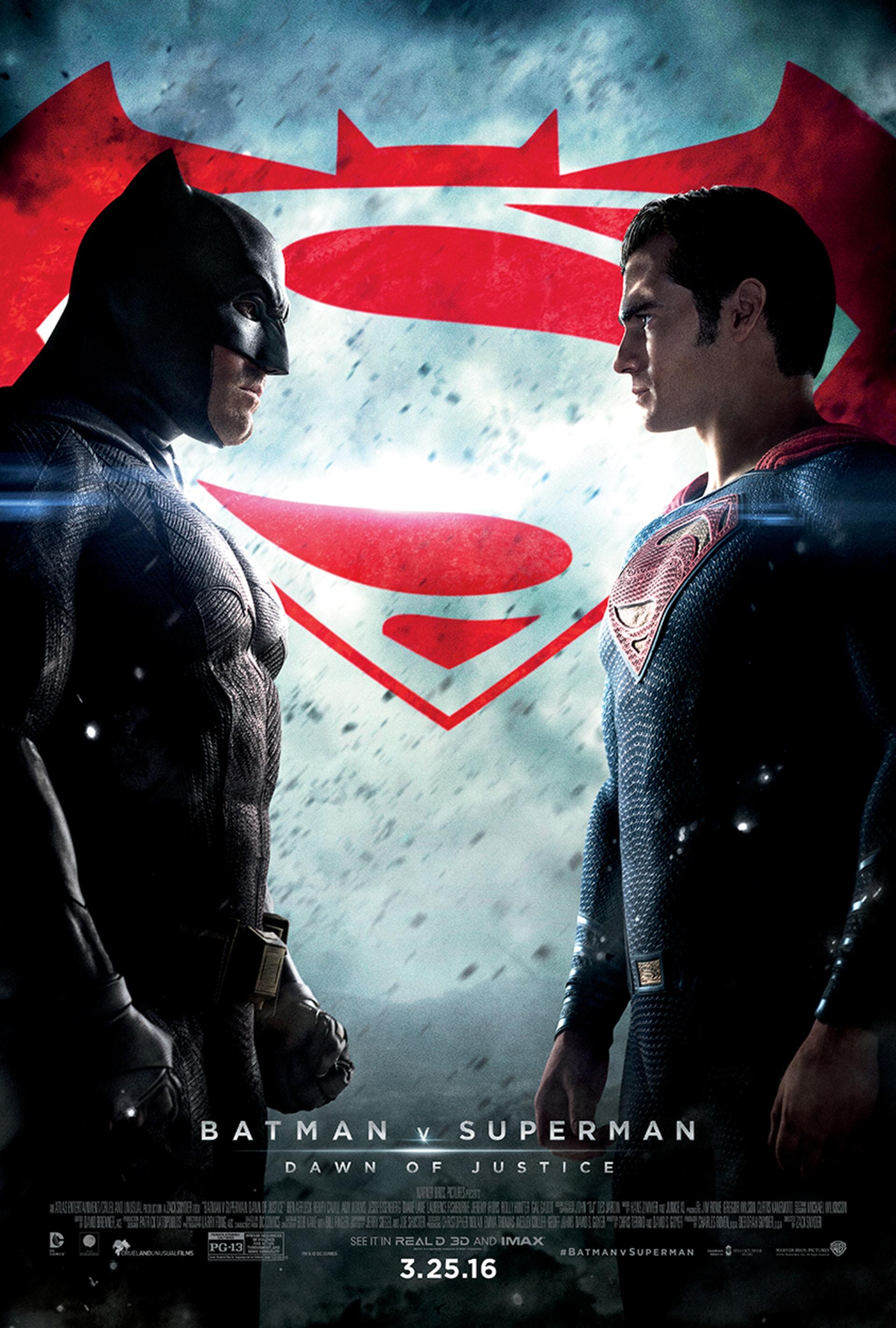 Batman v Superman final face off poster