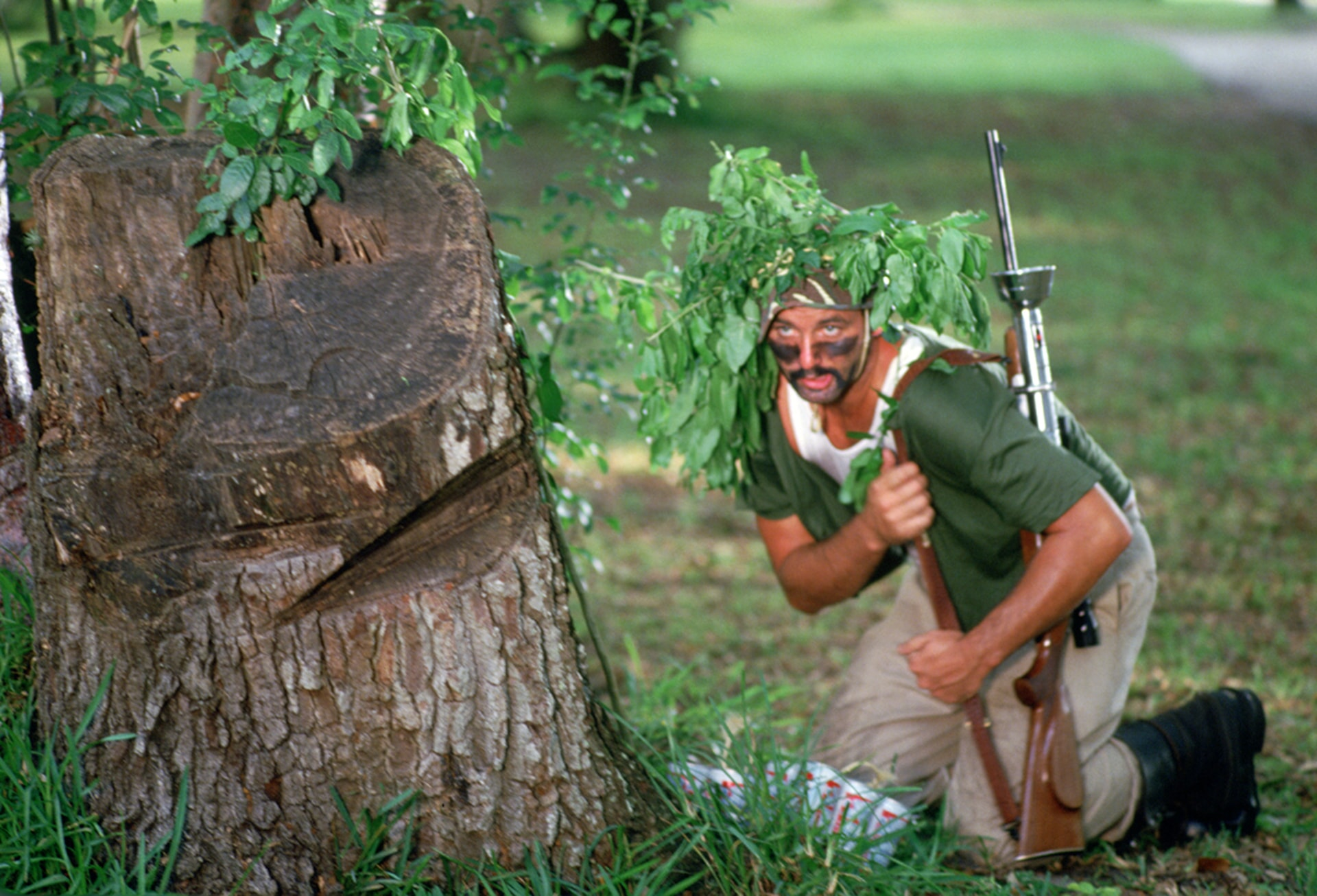 bill murray as carl spackler goes hunting for a devious gopher in caddyshack