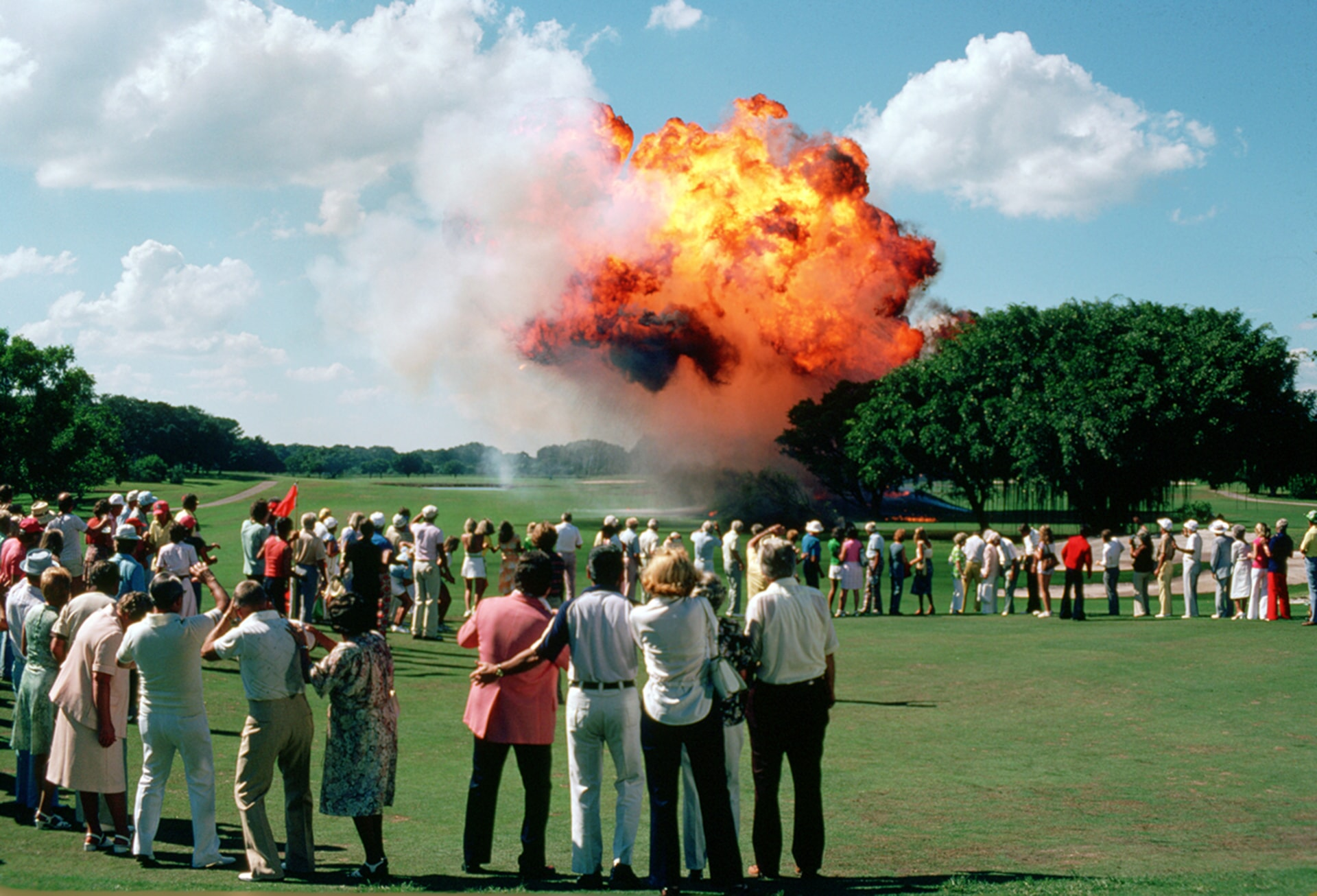 bill murray blows up the bushwood golf course in caddyshack