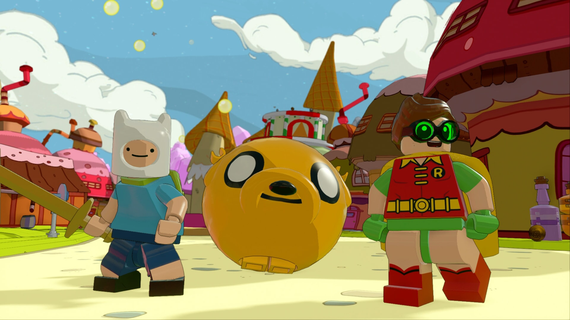 LEGO Dimensions: Adventure time characters and Robin