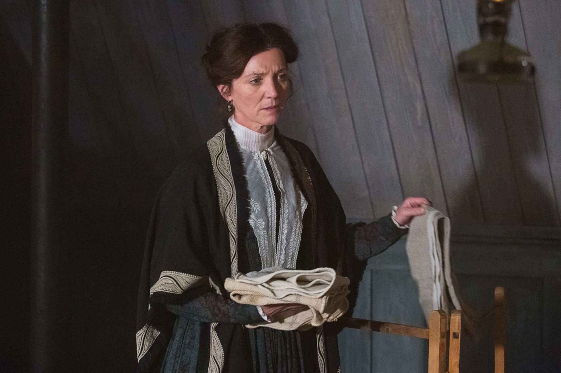 "MICHELLE FAIRLEY as Mrs. Nickerson in Warner Bros. Pictures' and Village Roadshow Pictures' action adventure ""IN THE HEART OF THE SEA,"" distributed worldwide by Warner Bros. Pictures and in select territories by Village Roadshow Pictures."