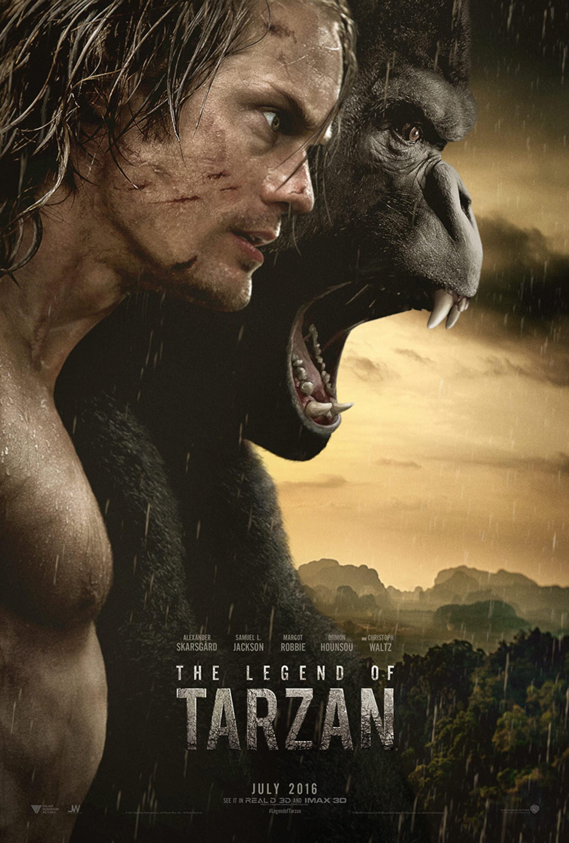 Legend of Tarzan - Tarzan and Ape with mountains in distance