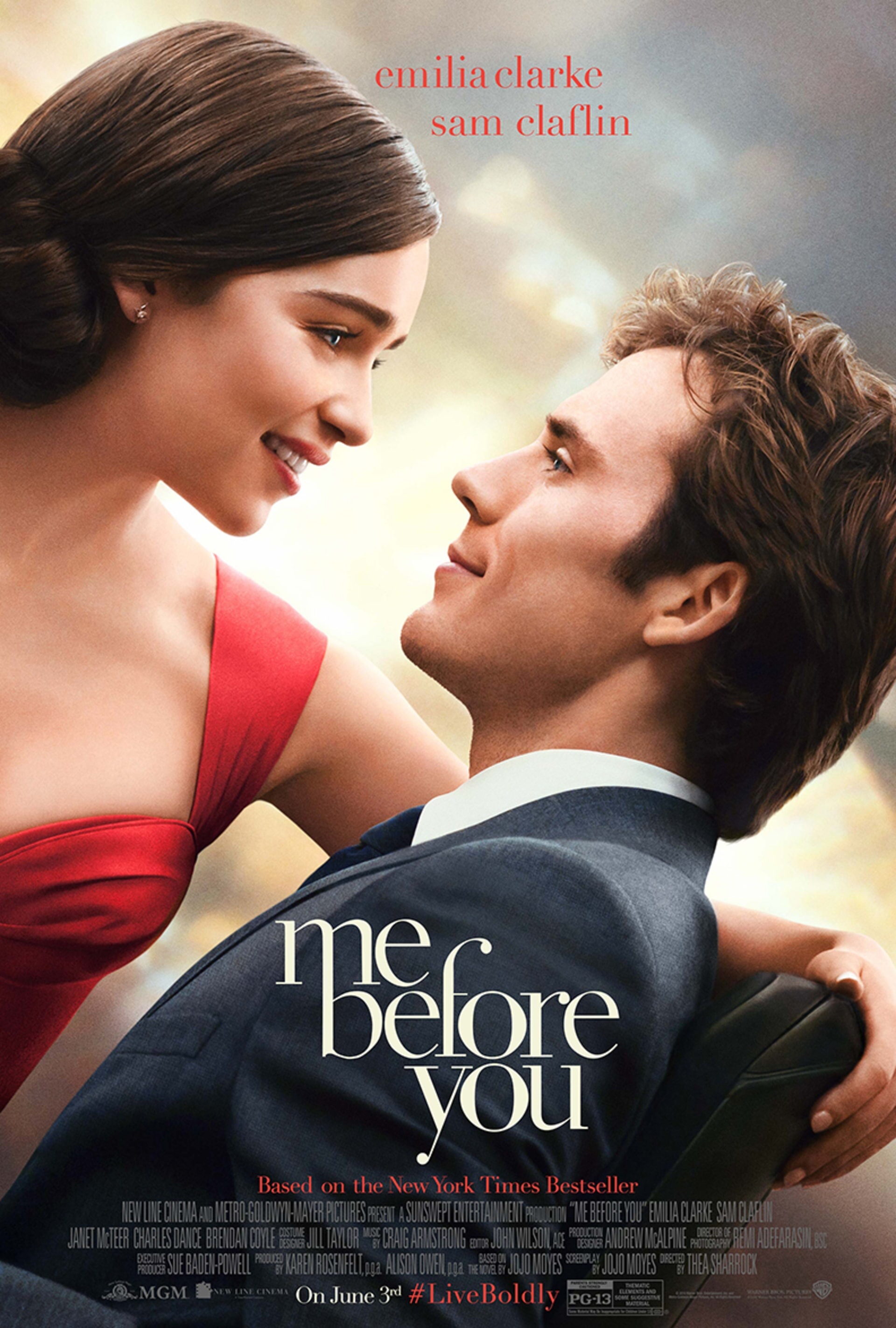 Emilia Clarke and Sam Claflin in Me Before You poster