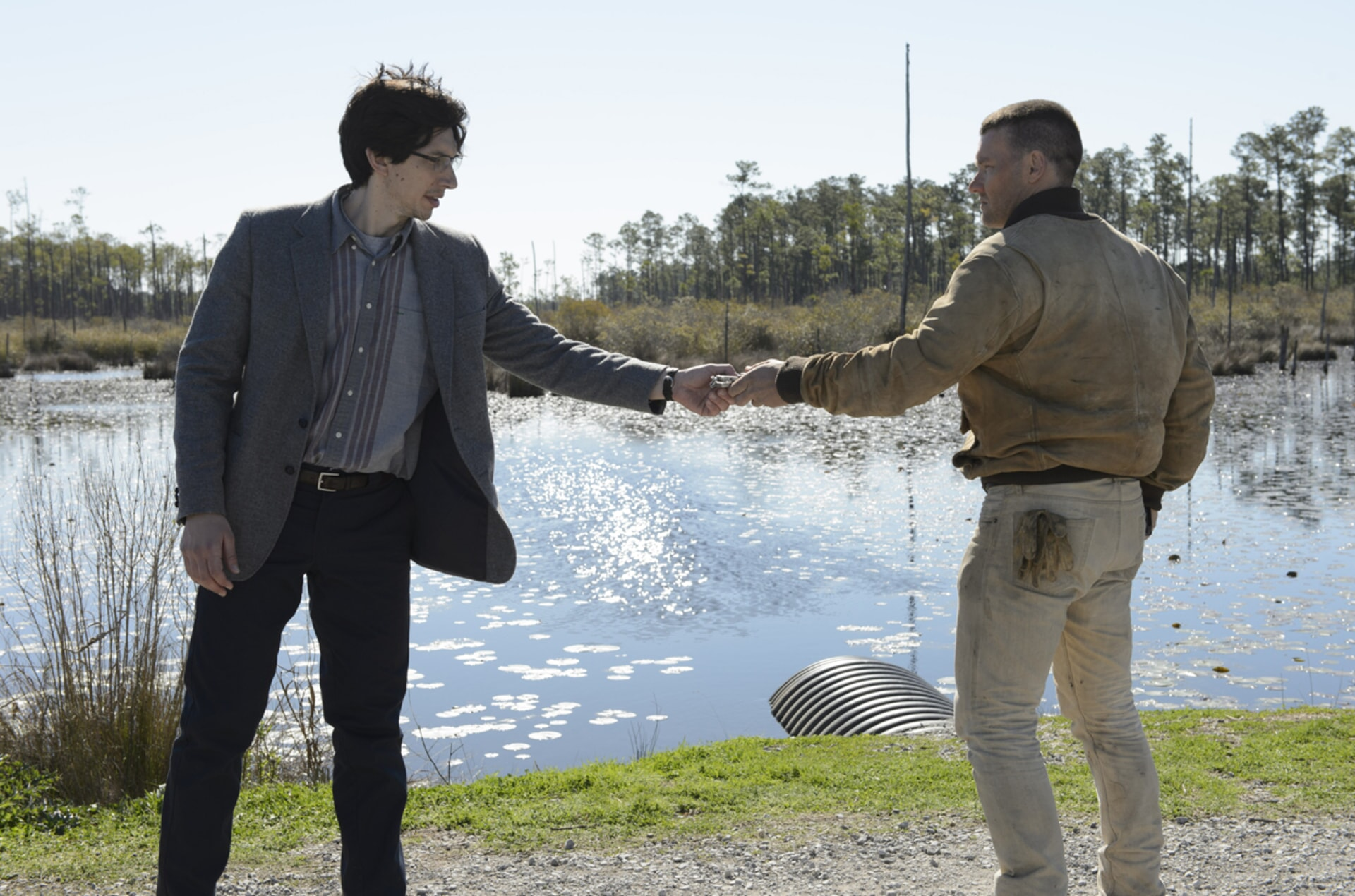 "ADAM DRIVER as Sevier and JOEL EDGERTON as Lucas in director Jeff Nichols' sci-fi thriller ""MIDNIGHT SPECIAL,"""