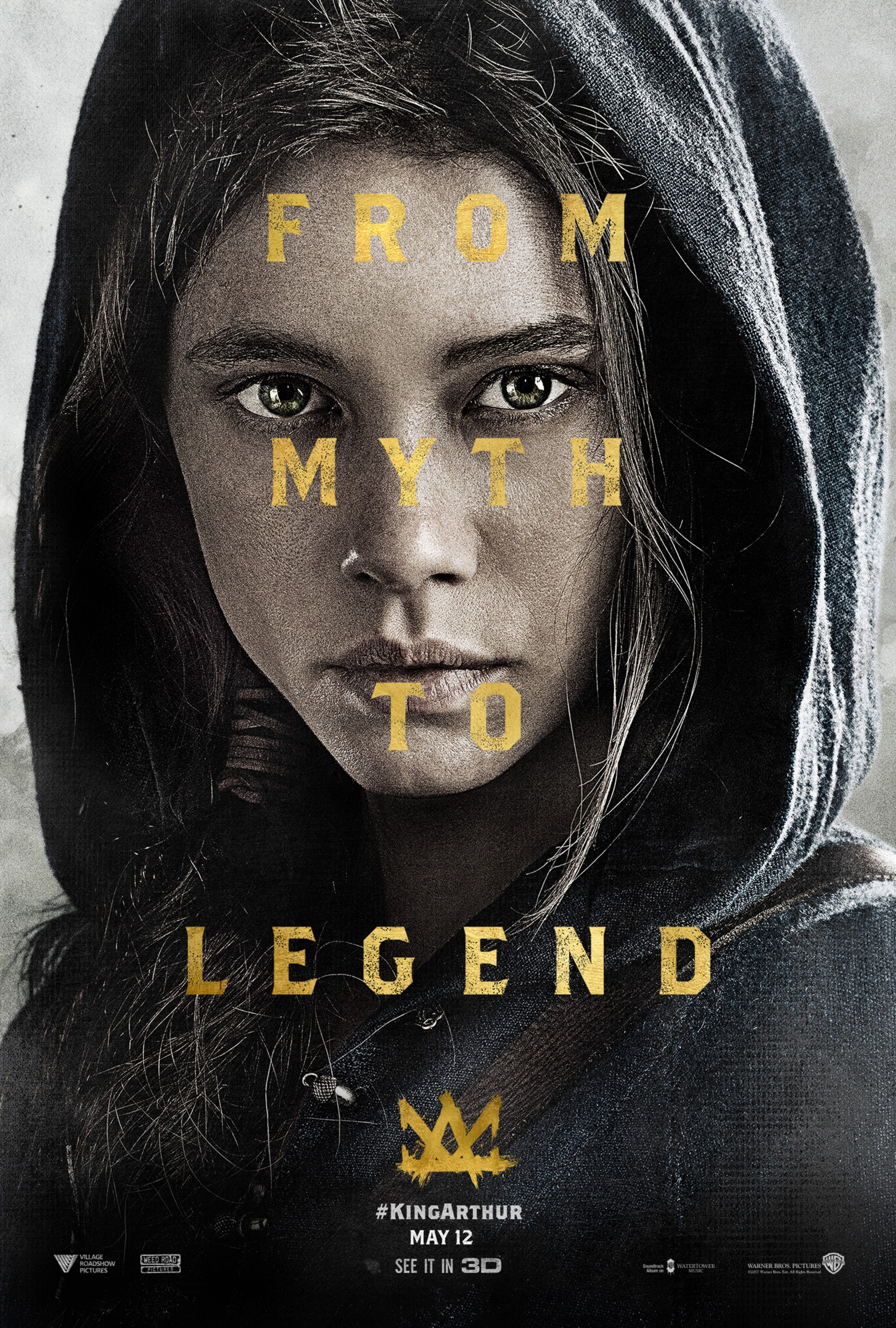"Close-up of The Mage with text over her face that reads ""From Myth to Legend"""