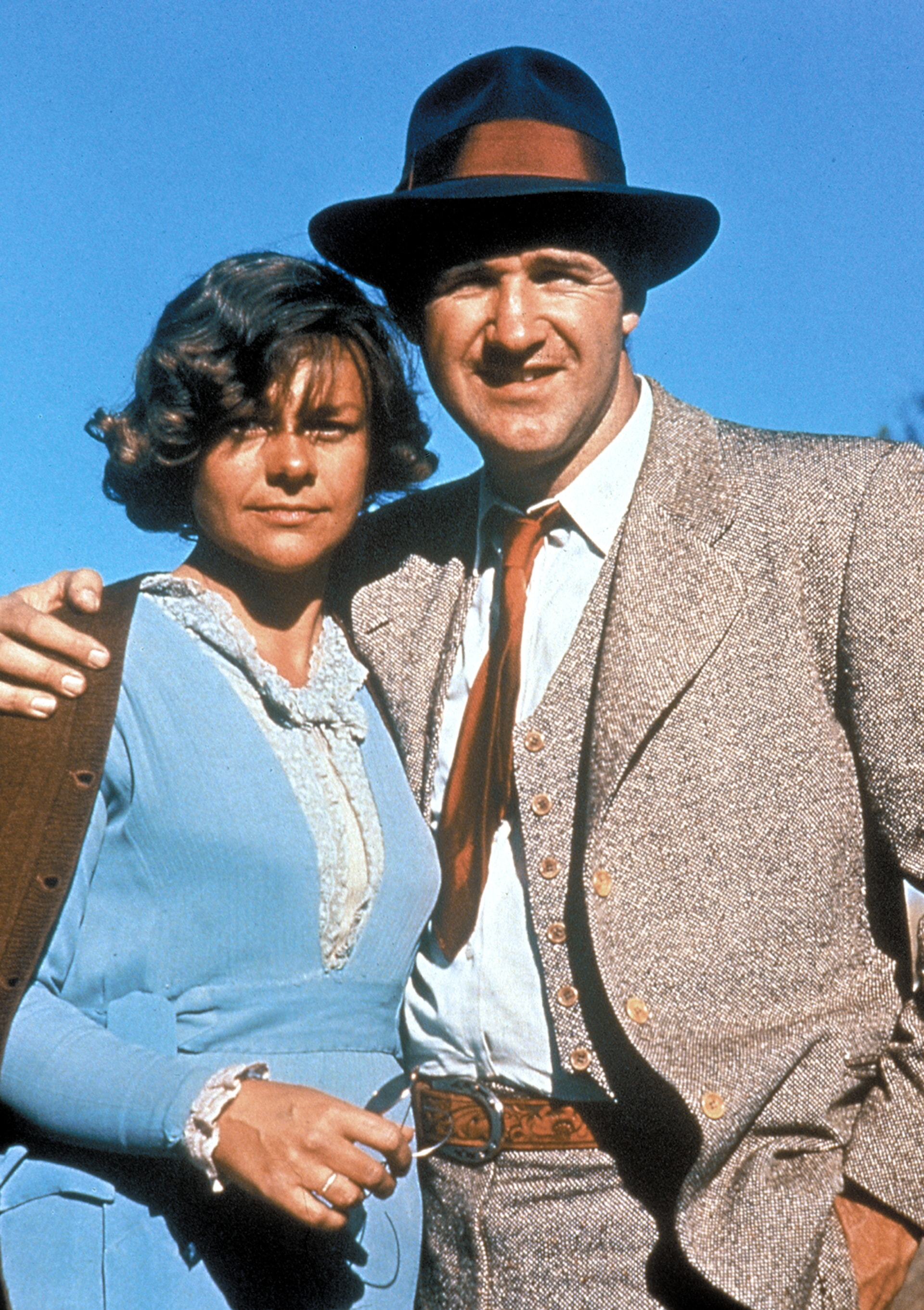 estelle parsons in her oscar winning role as blance in bonnie and clyde, with co-star gene hackman