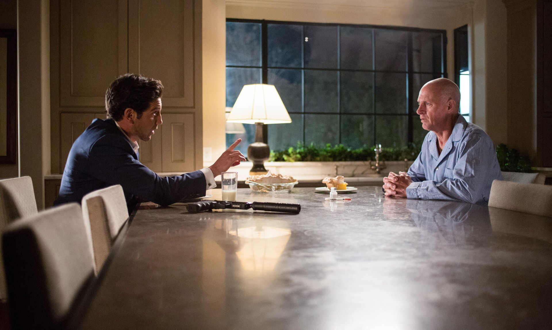 """JON BERNTHAL as Brax and ANDY UMBERGER as Ed Chilton in Warner Bros. Pictures' """"THE ACCOUNTANT,"""" a Warner Bros. Pictures release."""