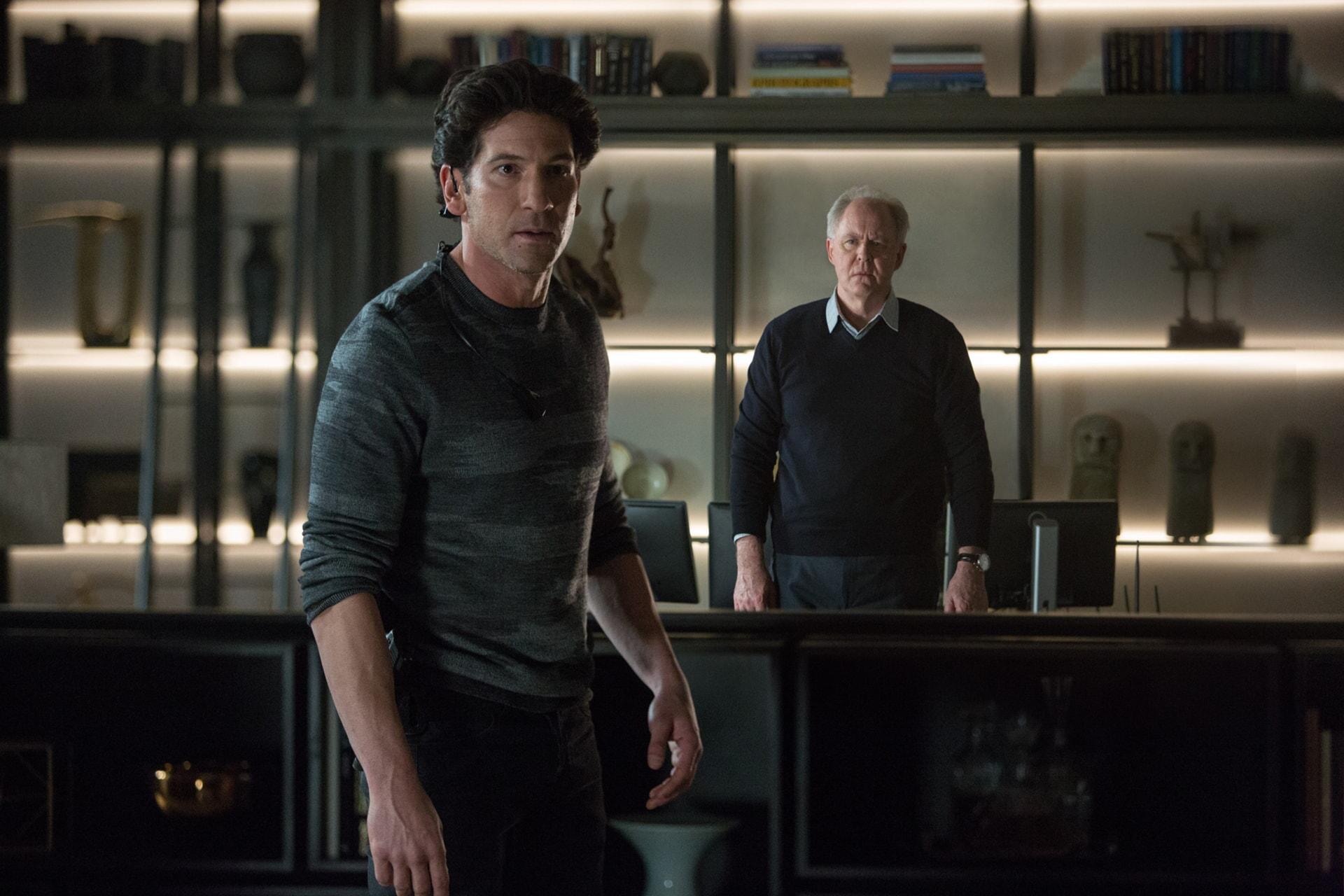 "JON BERNTHAL as Brax and JOHN LITHGOW as Lamar Blackburn in Warner Bros. Pictures' ""THE ACCOUNTANT,"" a Warner Bros. Pictures release."