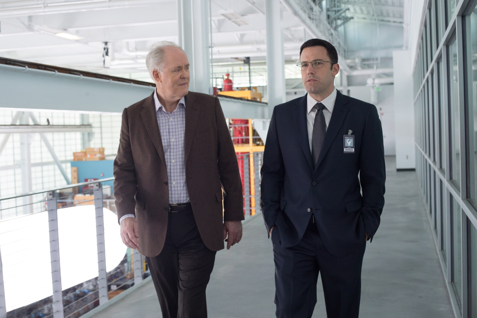 """JOHN LITHGOW as Lamar Blackburn and BEN AFFLECK as Christian Wolff in Warner Bros. Pictures' """"THE ACCOUNTANT,"""" a Warner Bros. Pictures release."""