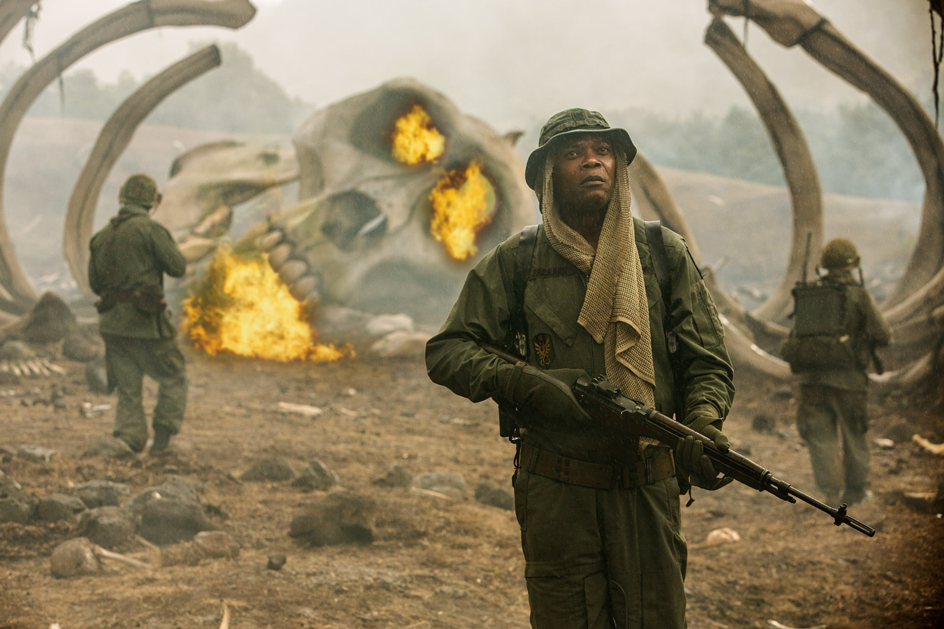 """SAMUEL L. JACKSON as Preston Packard in Warner Bros. Pictures', Legendary Pictures' and Tencent Pictures' action adventure """"KONG: SKULL ISLAND,"""" a Warner Bros. Pictures release."""