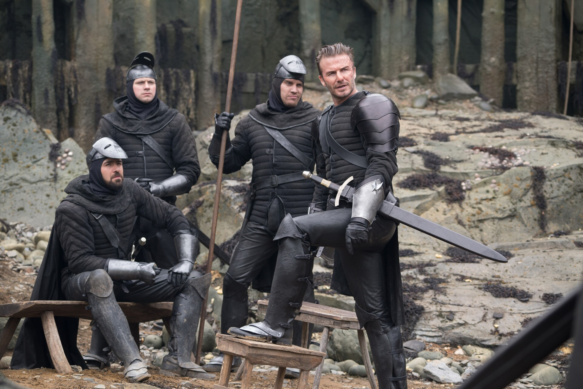 "DAVID BECKHAM as Trigger in Warner Bros. Pictures' and Village Roadshow Pictures' fantasy action adventure ""KING ARTHUR: LEGEND OF THE SWORD,"" distributed worldwide by Warner Bros. Pictures and in select territories by Village Roadshow Pictures."