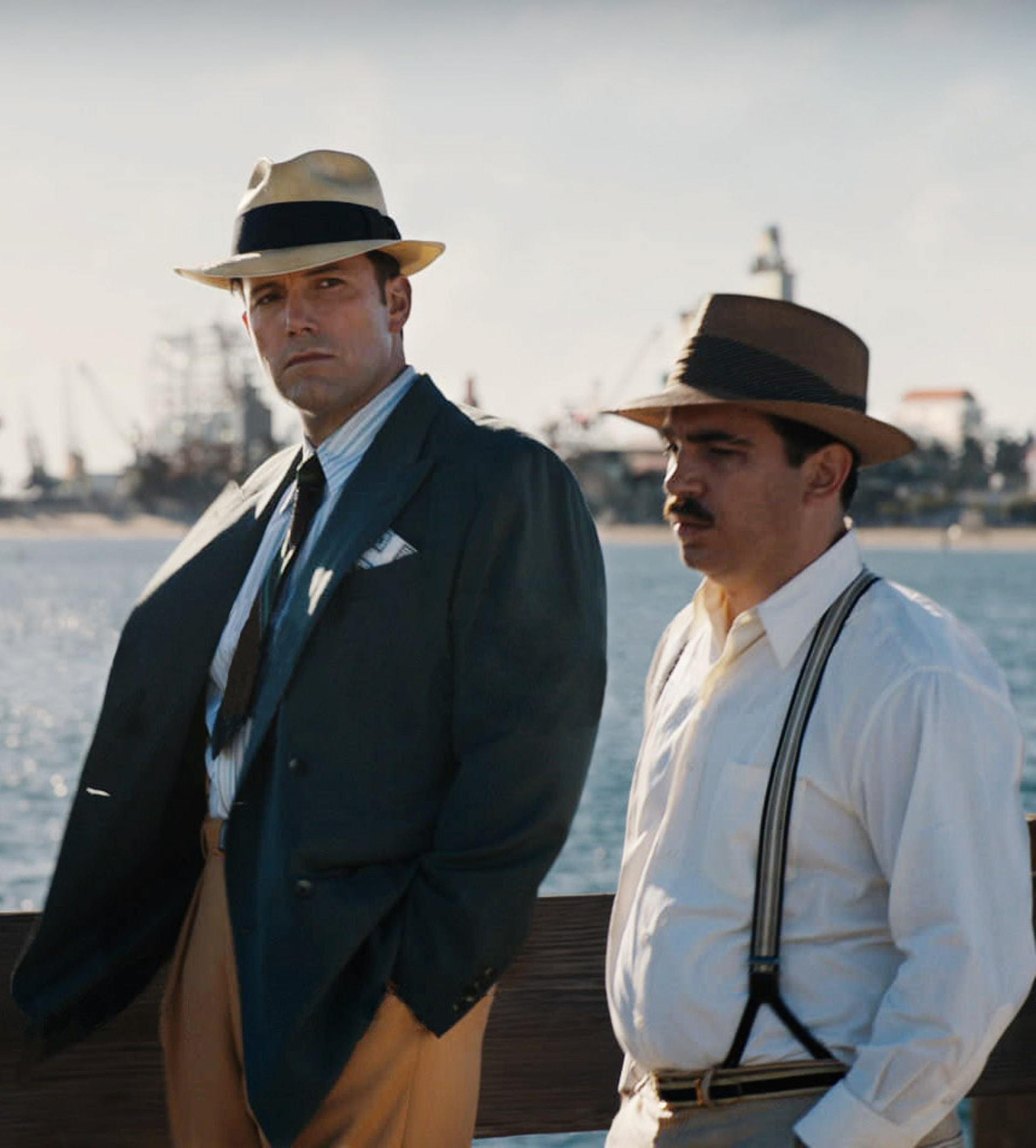 """BEN AFFLECK as Joe Coughlin and CHRIS MESSINA as Dion Bartolo in Warner Bros. Pictures' dramatic crime thriller """"LIVE BY NIGHT,"""" a Warner Bros. Pictures release."""