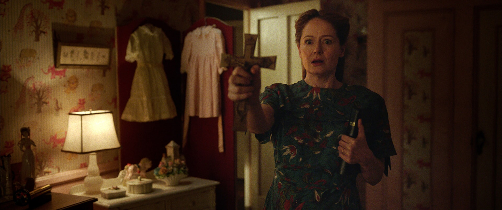 "MIRANDA OTTO as Esther Mullins in New Line Cinema's supernatural thriller ""ANNABELLE: CREATION,"" a Warner Bros. Pictures release."