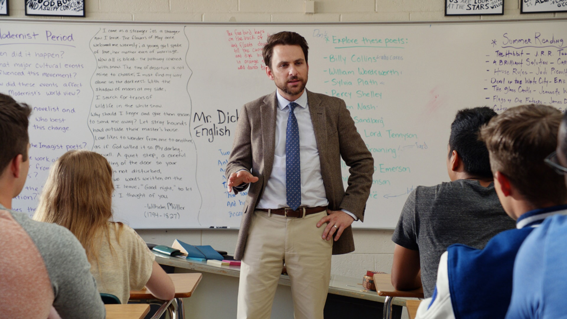 """CHARLIE DAY as Andy Campbell in the New Line Cinema and Village Roadshow Pictures comedy """"FIST FIGHT,"""" a Warner Bros. Pictures release."""