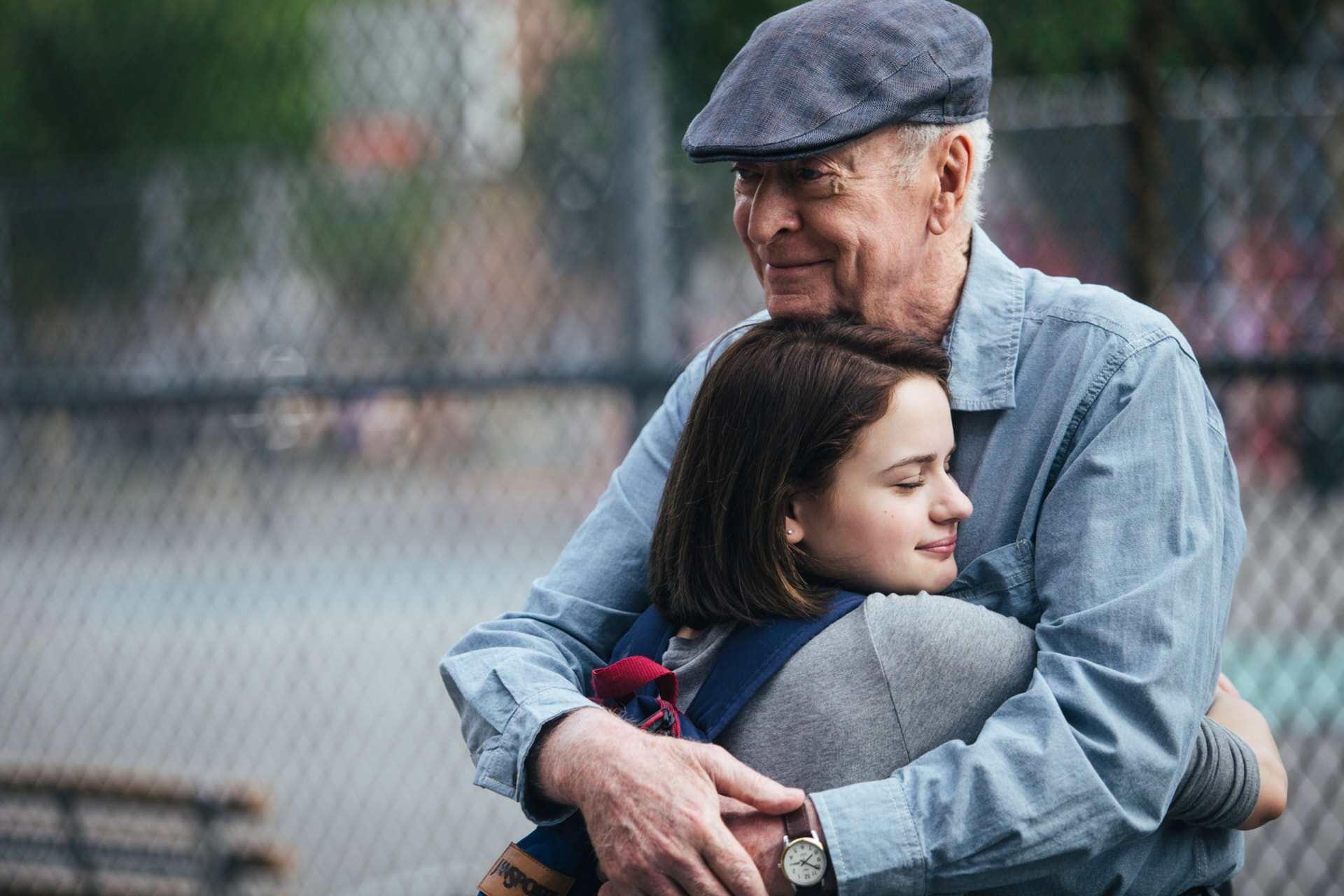 """JOEY KING as Brooklyn Harding and MICHAEL CAINE as Joe Harding in the New Line Cinema and Village Roadshow comedy """"GOING IN STYLE,"""" a Warner Bros. Pictures release."""