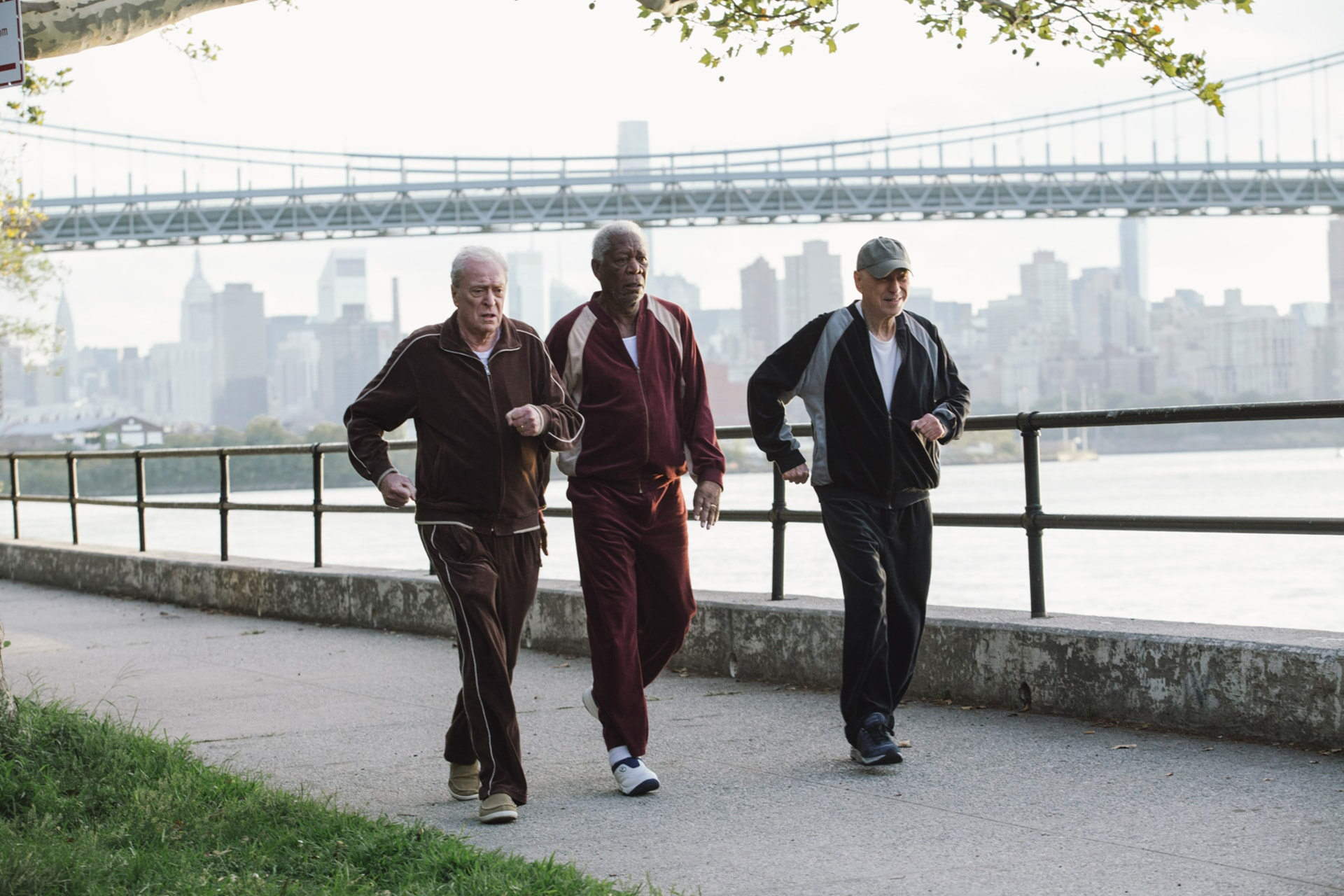 """MICHAEL CAINE as Joe Harding, MORGAN FREEMAN as Willie Davis and ALAN ARKIN as Albert Garner in the New Line Cinema and Village Roadshow comedy """"GOING IN STYLE,"""" a Warner Bros. Pictures"""
