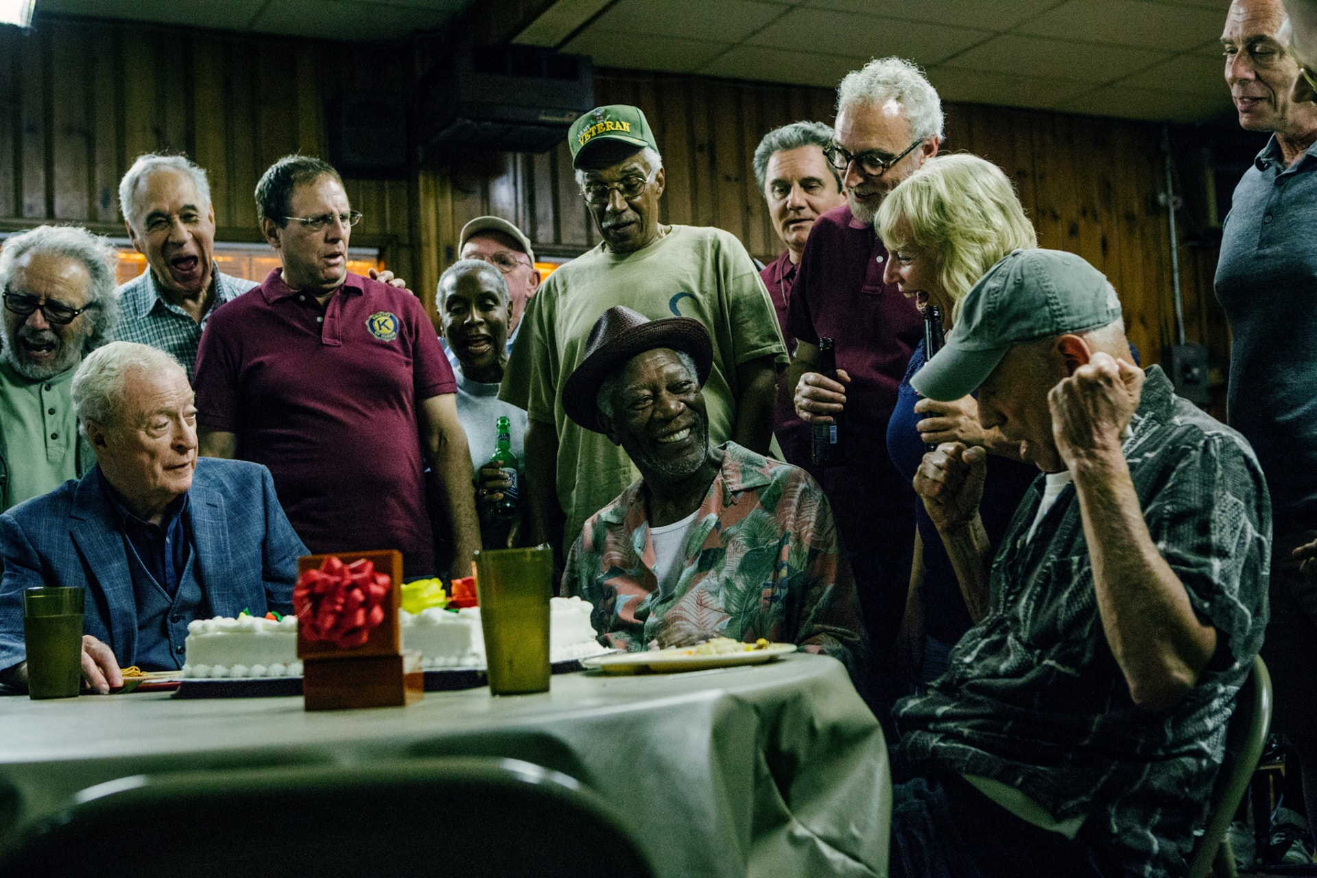 """MICHAEL CAINE as Joe Harding, MORGAN FREEMAN as Willie Davis and ALAN ARKIN as Albert Garner in the New Line Cinema and Village Roadshow comedy """"GOING IN STYLE,"""" a Warner Bros. Pictures release."""