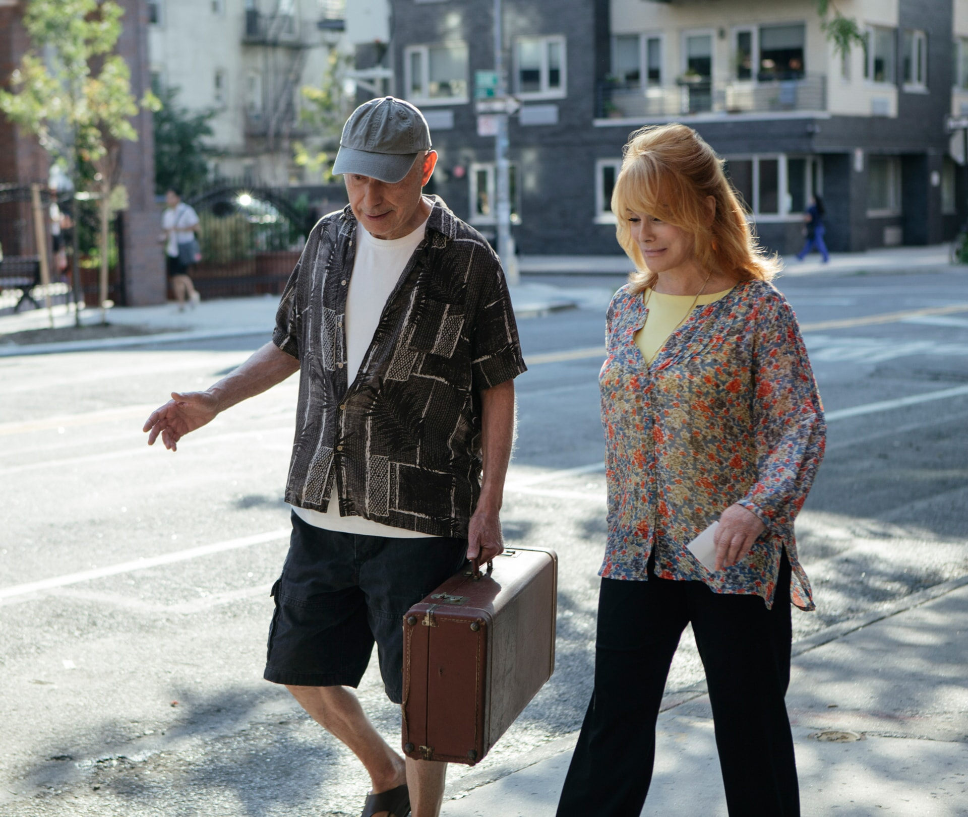 """ALAN ARKIN as Albert Garner and ANN-MARGRET as Annie Santori in the New Line Cinema and Village Roadshow comedy """"GOING IN STYLE,"""" a Warner Bros. Pictures release."""