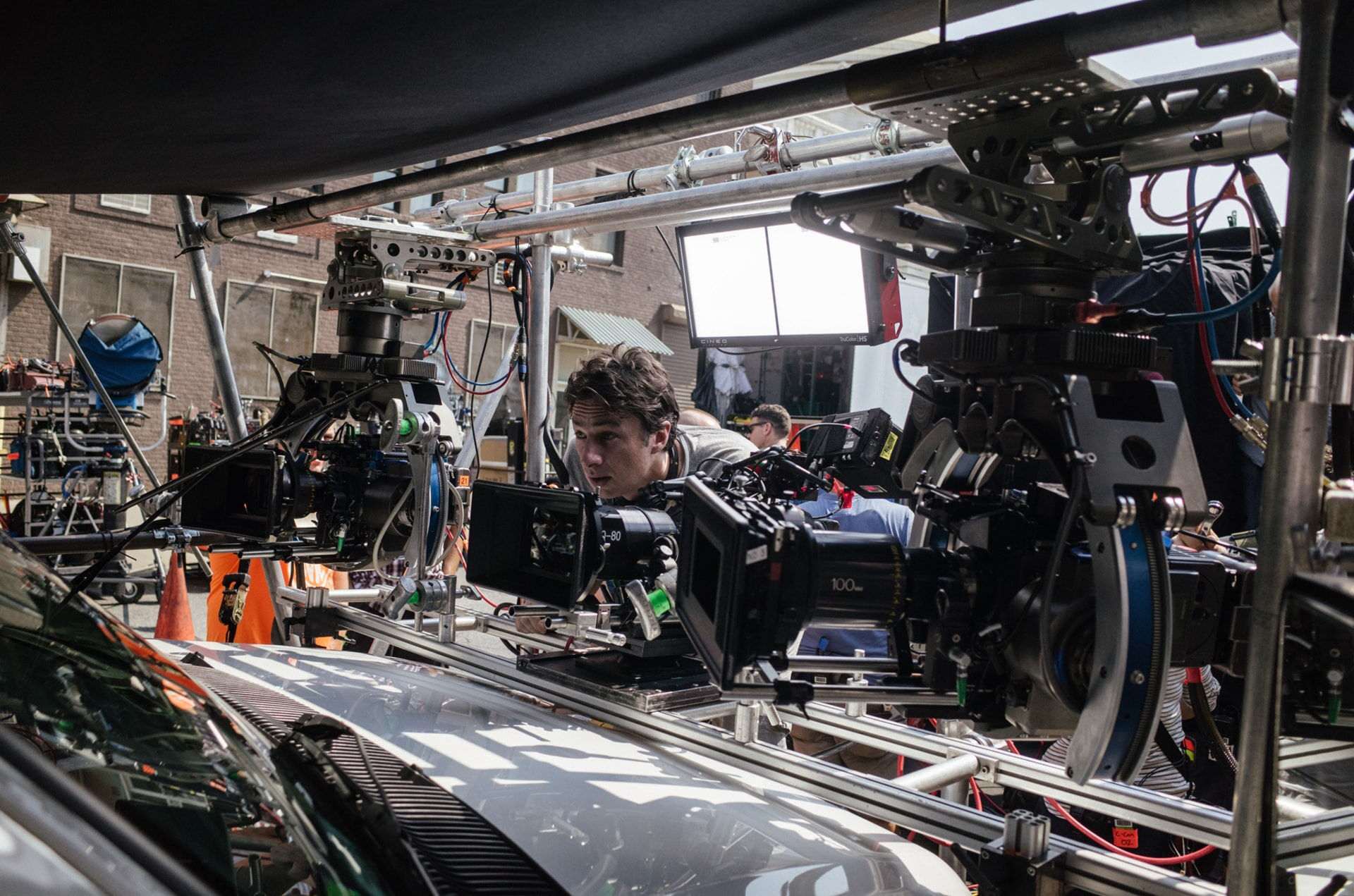 """Director ZACH BRAFF on the set of the New Line Cinema and Village Roadshow comedy """"GOING IN STYLE,"""" a Warner Bros. Pictures release."""