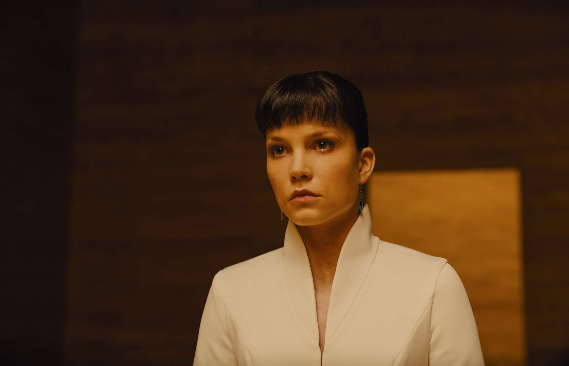 "SYLVIA HOEKS as Luv in Alcon Entertainment's action thriller ""BLADE RUNNER 2049,"" a Warner Bros. Pictures and Sony Pictures Entertainment release, domestic distribution by Warner Bros. Pictures and international distribution by Sony Pictures."