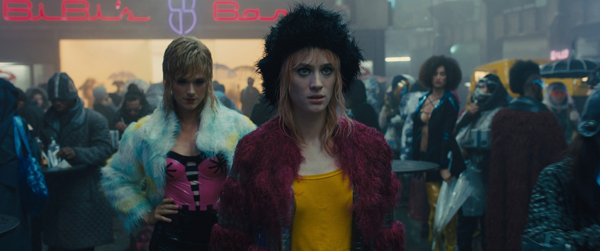 "MACKENZIE DAVIS as Mariette in Alcon Entertainment's action thriller ""BLADE RUNNER 2049,"" a Warner Bros. Pictures and Sony Pictures Entertainment release, domestic distribution by Warner Bros. Pictures and international distribution by Sony Pictures."