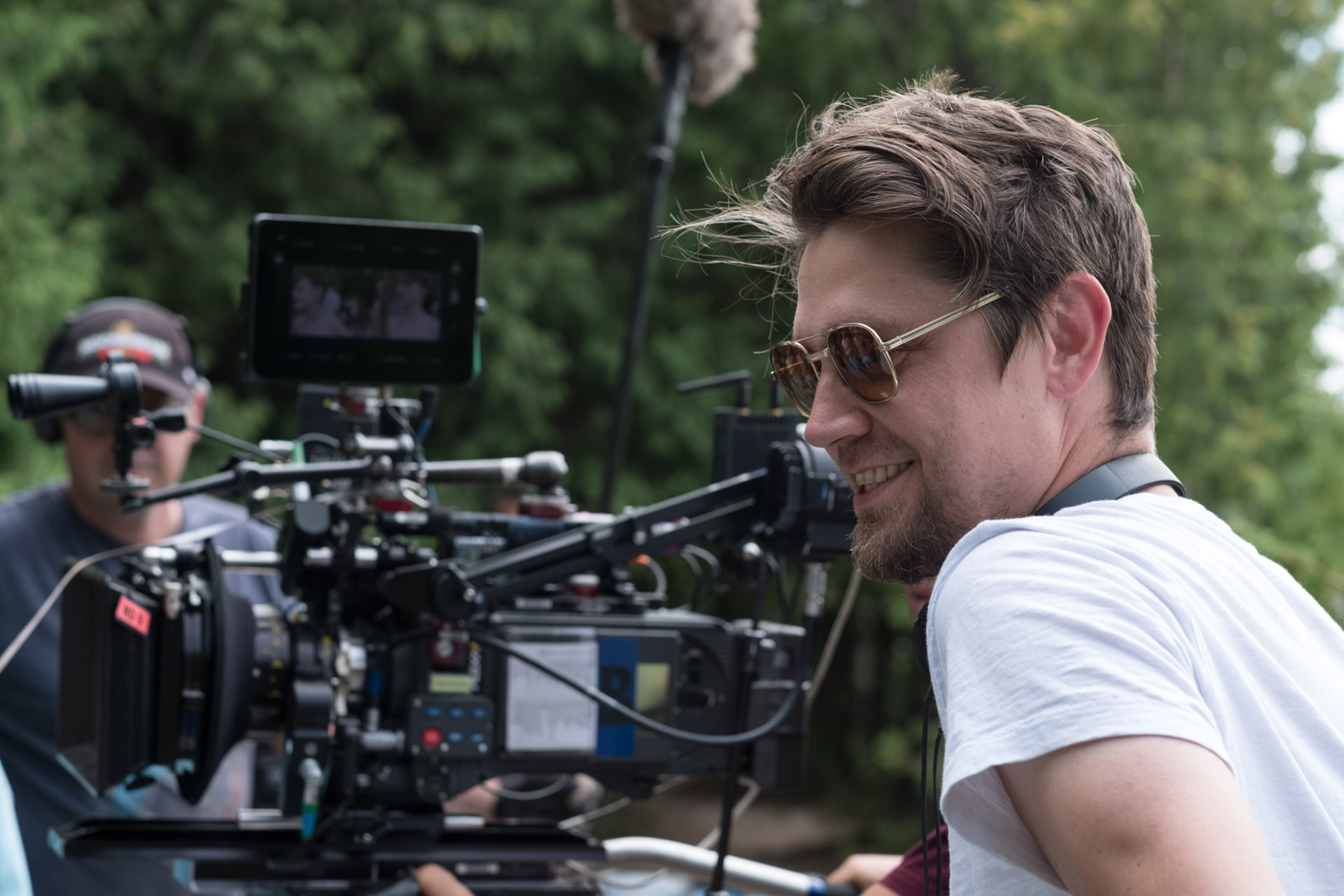 "Director ANDY MUSCHIETTI on the set of New Line Cinema's horror thriller ""IT,"" a Warner Bros. Pictures release."