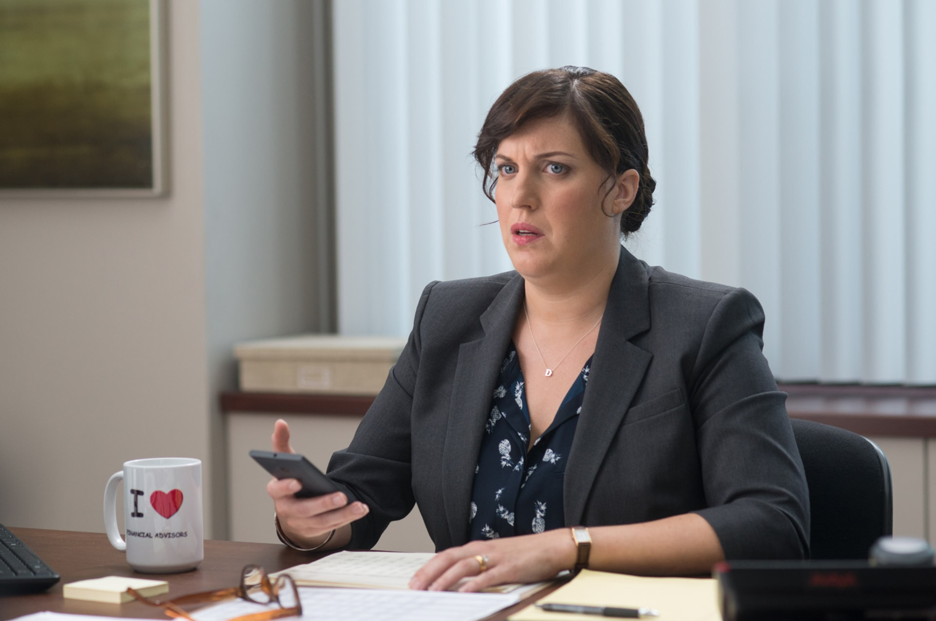 """ALLISON TOLMAN as Dawn in the New Line Cinema and Village Roadshow Pictures comedy """"THE HOUSE,"""" a Warner Bros. Pictures release."""