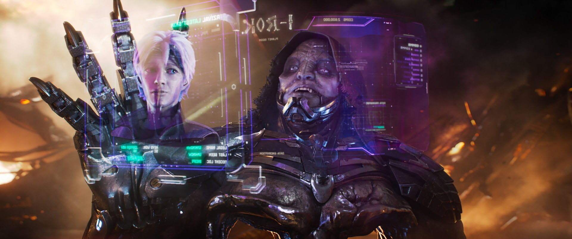"""(L-R) TYE SHERIDAN as Parzival and T.J. MILLER as I-R0k in Warner Bros. Pictures', Amblin Entertainment's and Village Roadshow Pictures' action adventure """"READY PLAYER ONE,"""" a Warner Bros. Pictures release."""