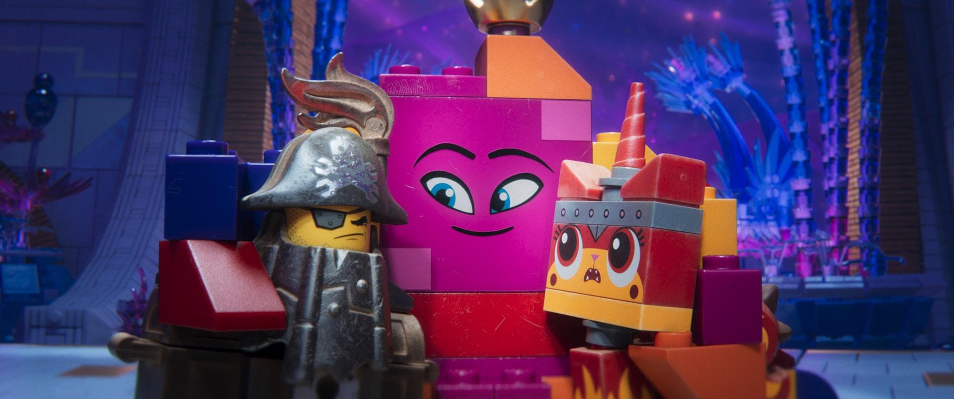 (L-R) MetalBeard (NICK OFFERMAN), Queen Watevra Wa'Nabi (TIFFANY HADDISH) and Ultrakatty (ALISON BRIE)