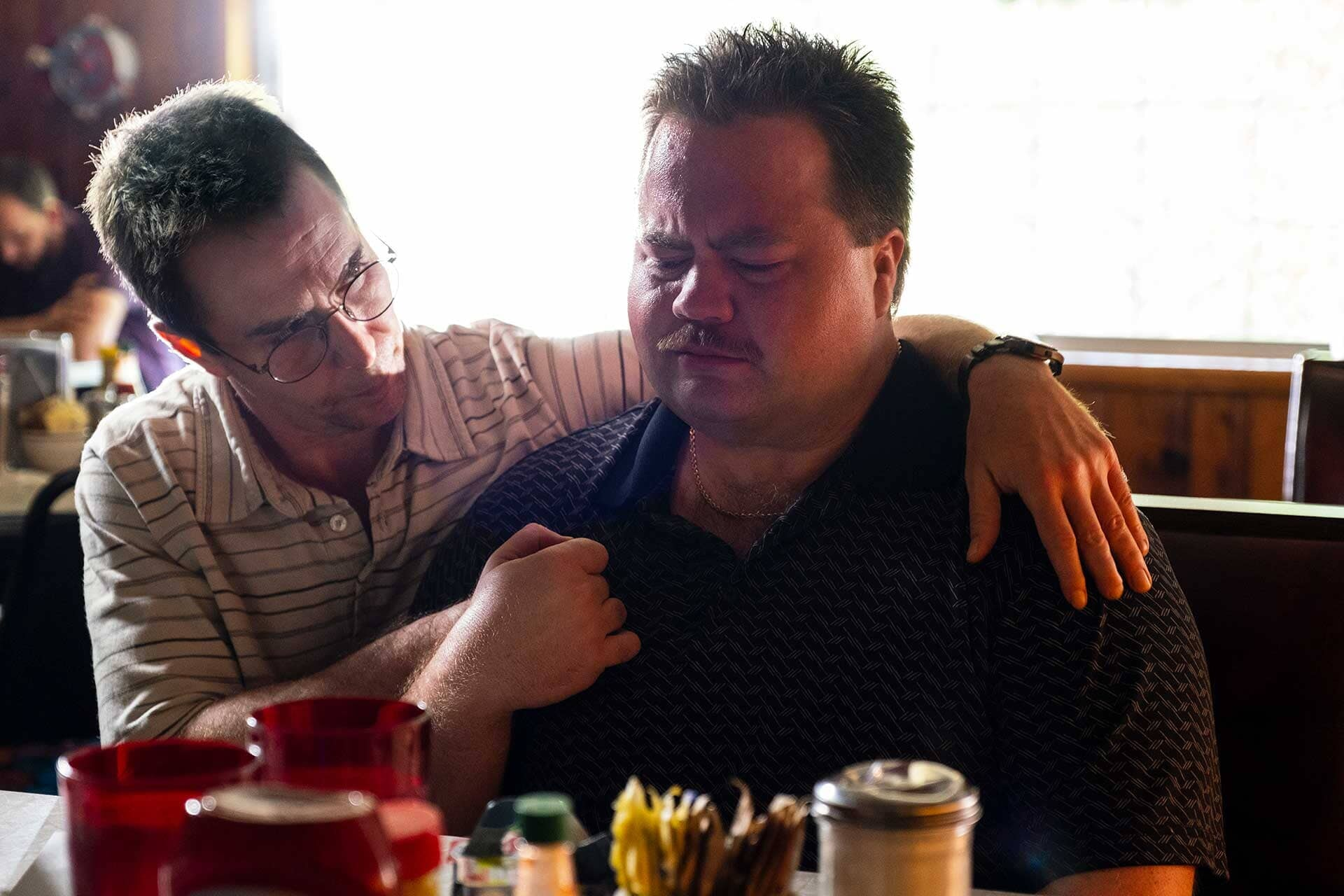 "SAM ROCKWELL as Watson Bryant and PAUL WALTER HAUSER as Richard Jewell in Warner Bros. Pictures' ""RICHARD JEWELL,"" a Warner Bros. Pictures release."
