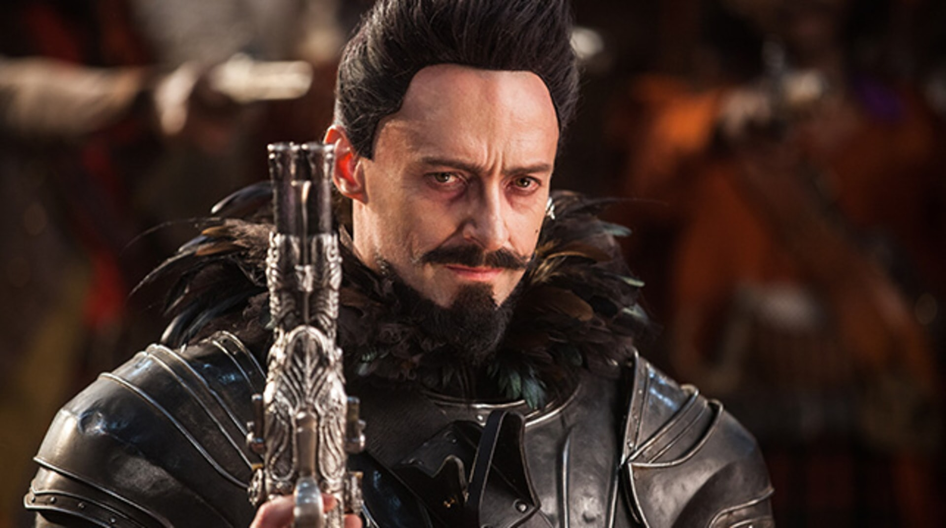 "HUGH JACKMAN as Blackbeard in Warner Bros. Pictures' and RatPac-Dune Entertainment's action adventure ""PAN,"" a Warner Bros. Pictures release."