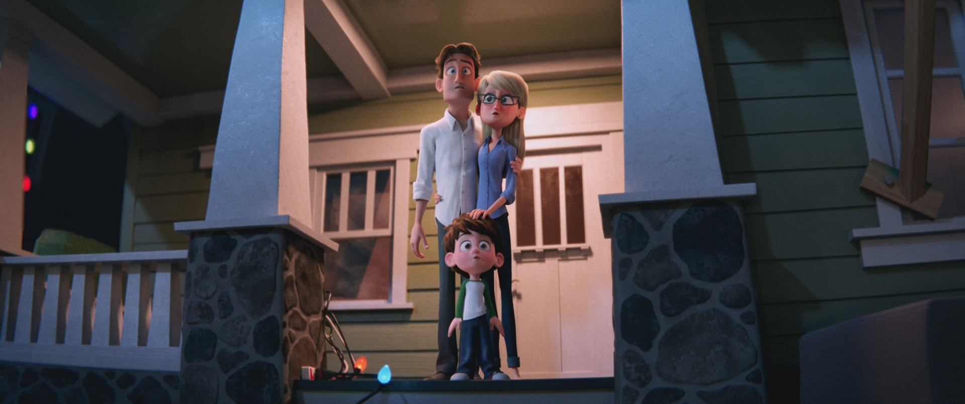 Henry Gardner voiced by TY BURRELL, Nate Gardner voiced by ANTON STARKMAN and Sarah Gardner voiced by JENNIFER ANISTON