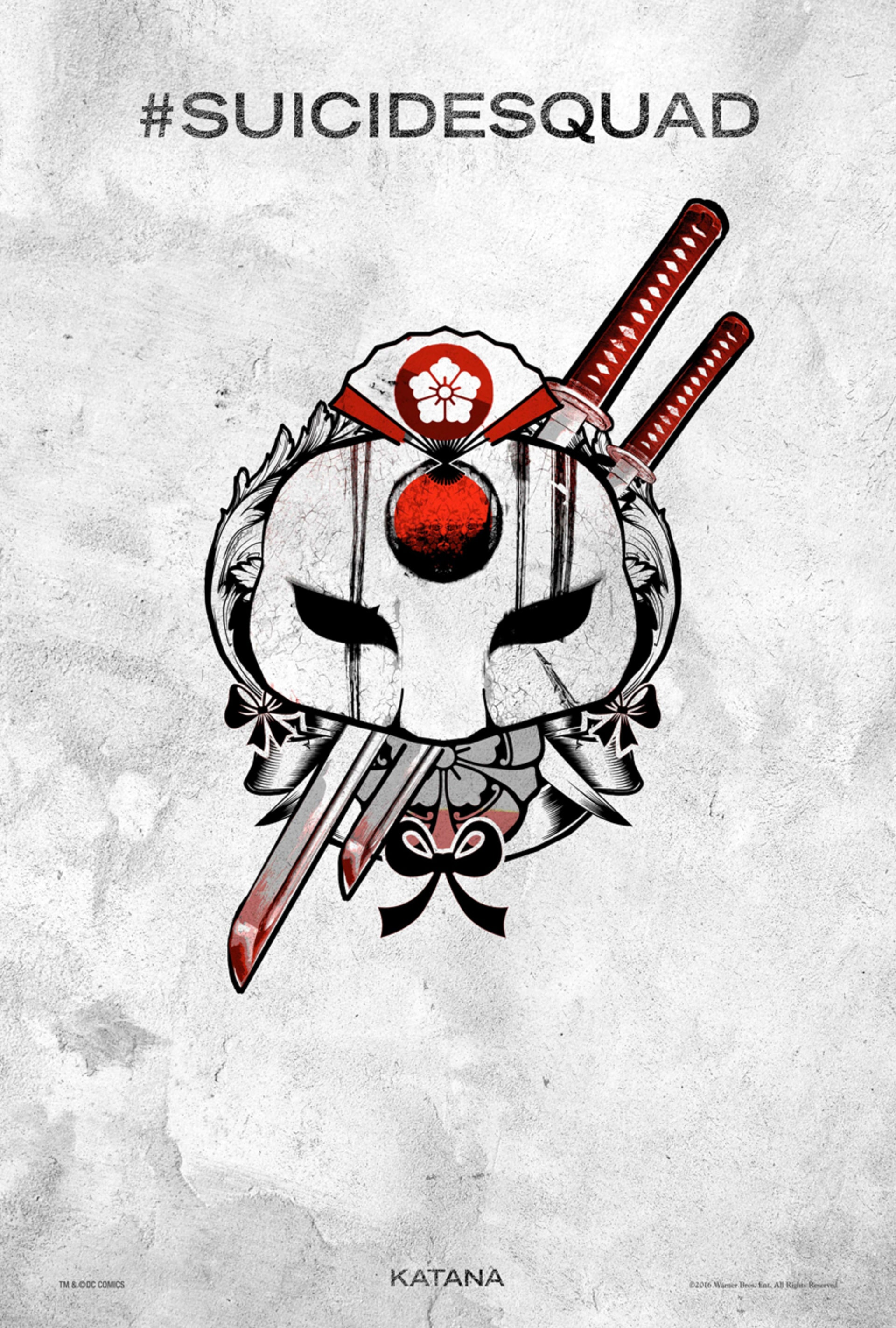 Suicide Squad tattoo poster: Katana