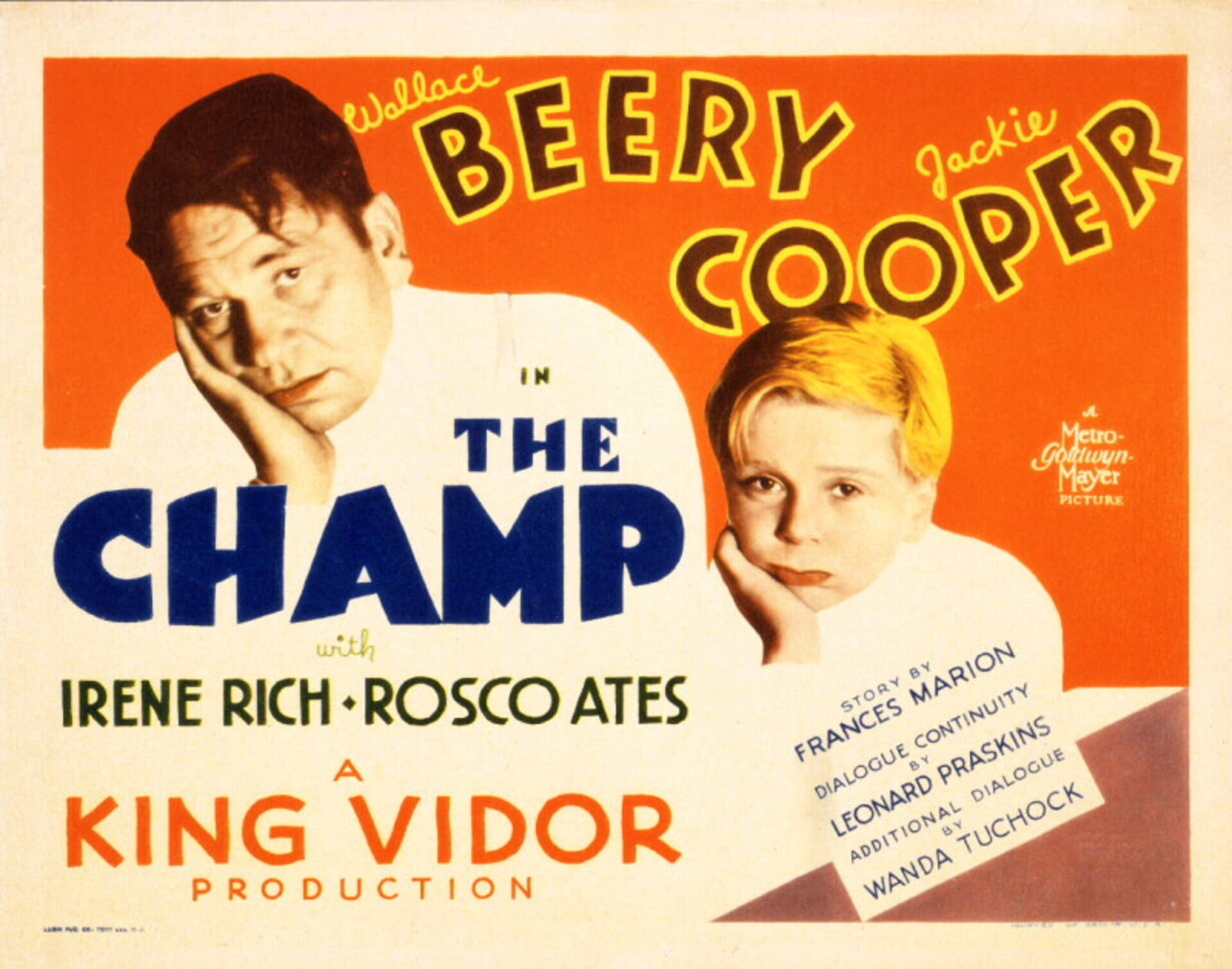 The Champ (1931) - Poster 3