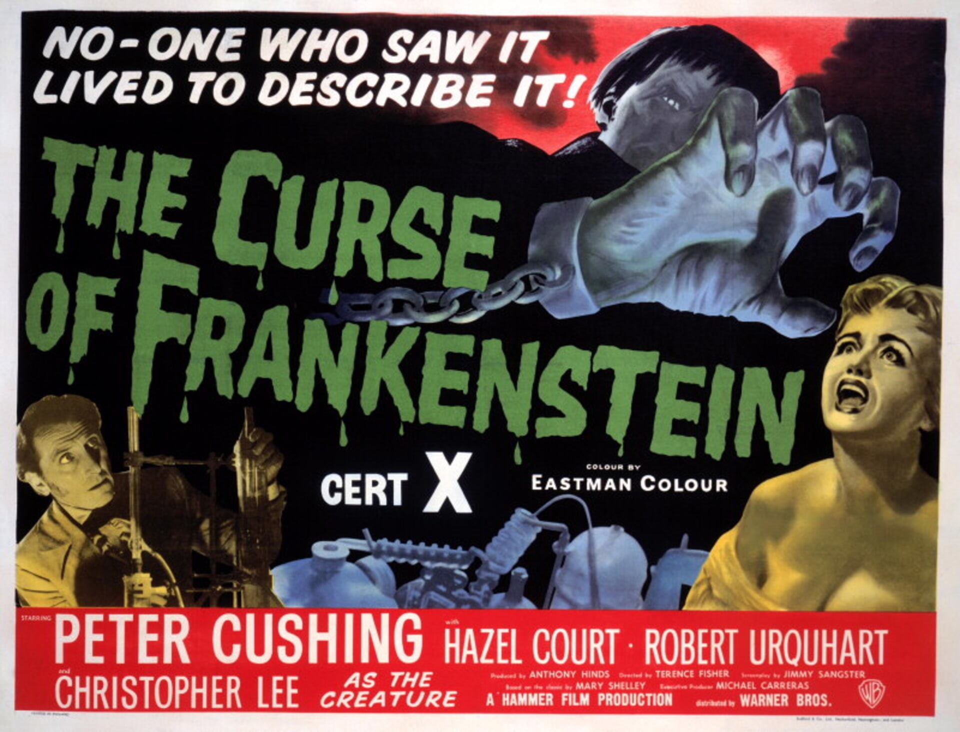 The Curse of Frankenstein - Poster 1