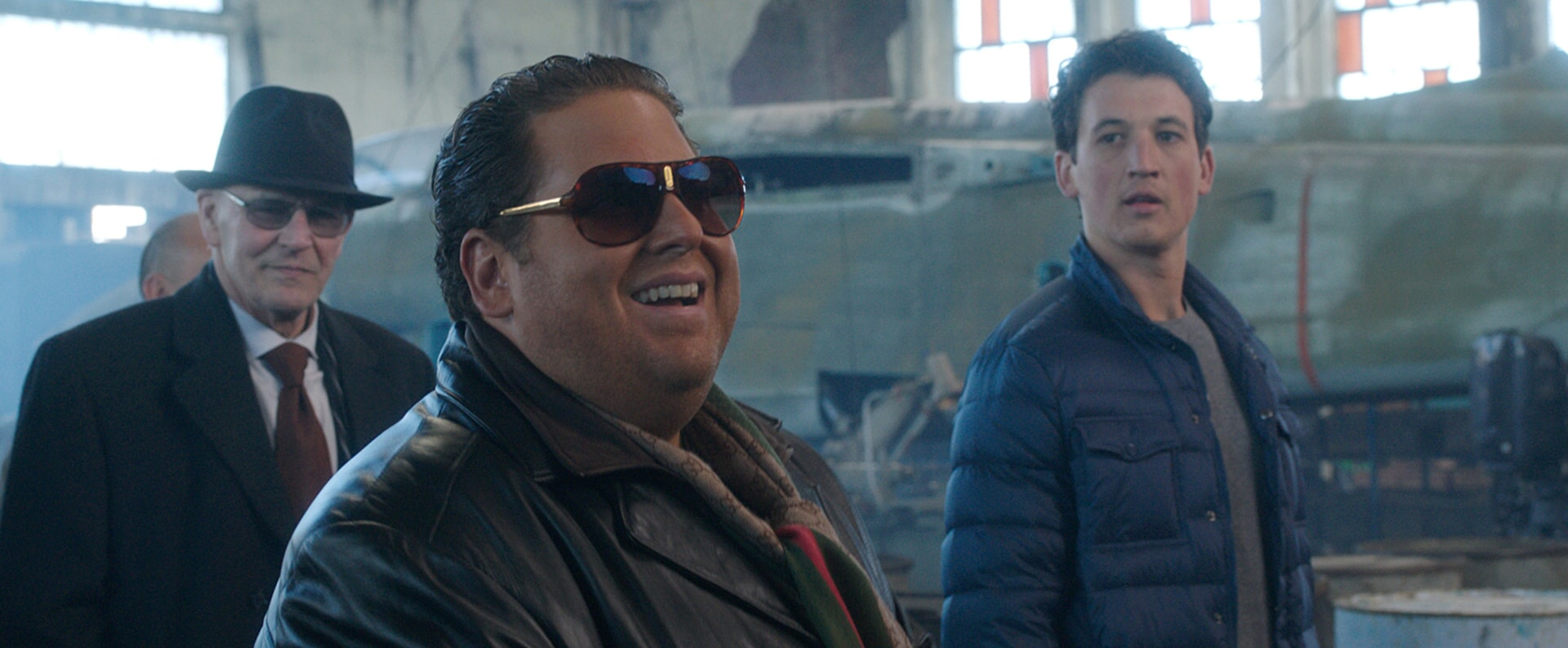 """ANDREI FINTI as Yili Pinari, JONAH HILL as Efraim and MILES TELLER as David in Warner Bros. Pictures' comedic drama (based on true events) """"WAR DOGS,"""" a Warner Bros. Pictures release."""