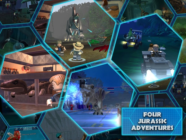 LEGO Jurassic World screen shot - Four Jurassic Adventures