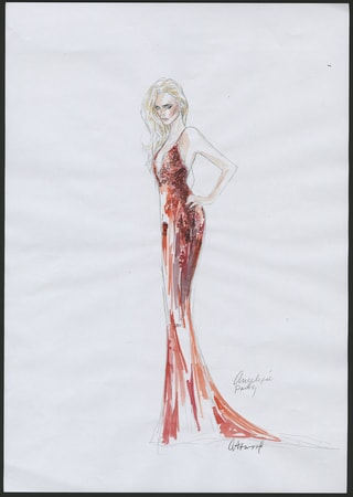 Dark Shadows costume sketch 1
