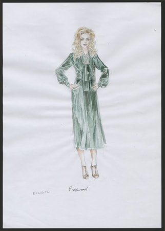 Dark Shadows costume sketch 2