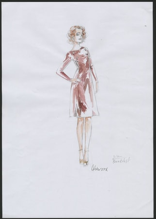 Dark Shadows costume sketch 3