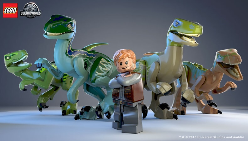 LEGO Jurassic World - Dino Raptors with Owen