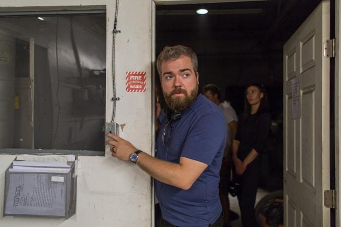 Director DAVID F. SANDBERG on the set