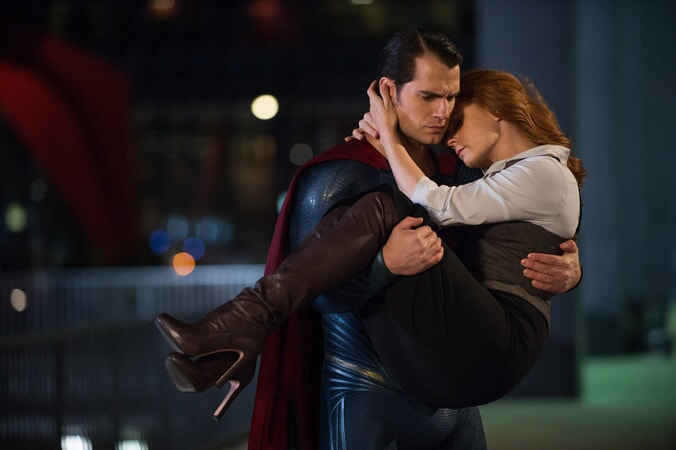 HENRY CAVILL as Superman and AMY ADAMS as Lois Lane