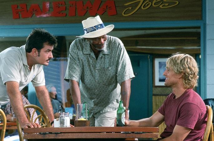 charlie sheen, morgan freeman and owen wilson star in the big bounce