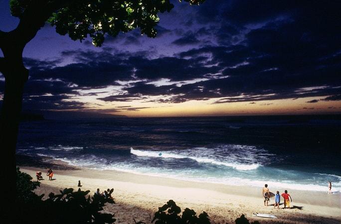 nighttime beach scene in the big bounce