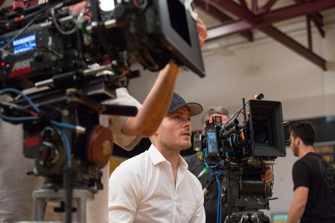 Director RAWSON MARSHALL THURBER on the set