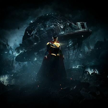 Injustice 2: Superman in front of Metropolis