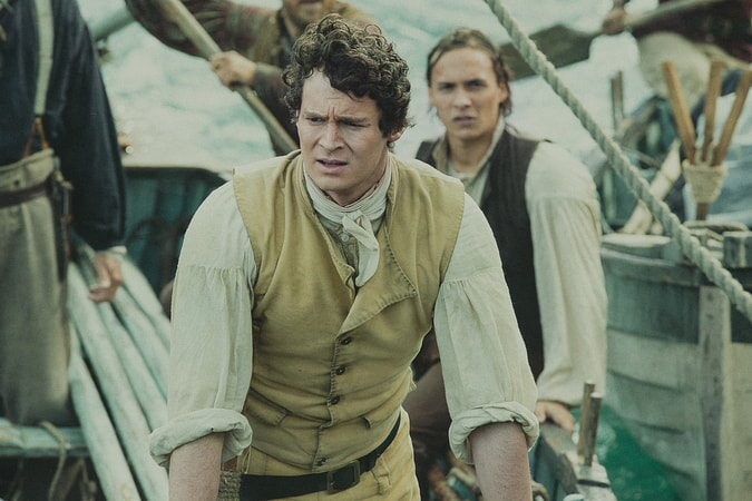 "BENJAMIN WALKER as George Pollard and FRANK DILLANE as Henry Coffin in Warner Bros. Pictures' and Village Roadshow Pictures' action adventure ""IN THE HEART OF THE SEA,"" distributed worldwide by Warner Bros. Pictures and in select territories by Village Roadshow Pictures."